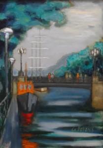 Klaipėdos .Biržos tiltas 2009m.drb.al.70x50Nr.091